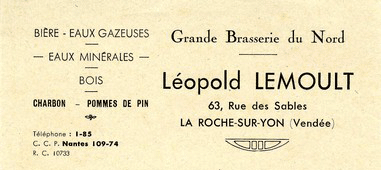 Grande Brasserie du Nord Léopold Lemoult 63 rue des Sables La Roche-sur-Yon (Vendée)