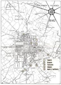 Carte des industries de la Roche-sur-Yon @Archives de La Roche-sur-Yon
