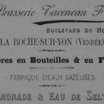 Brasserie Taveneau Fres Boulevard du Nord La Roche-sur-Yon (Vendée) Bières en bouteilles & en fûts Fabrique d'eaux gazeuses  Limonade & Eau de Seltz